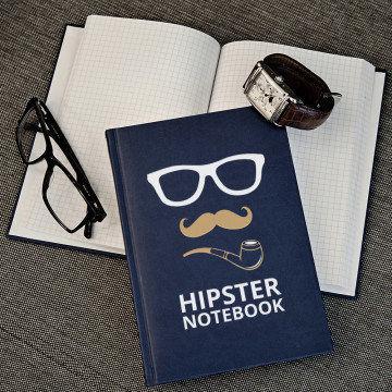 Hipster - notatnik A5 z nadrukiem