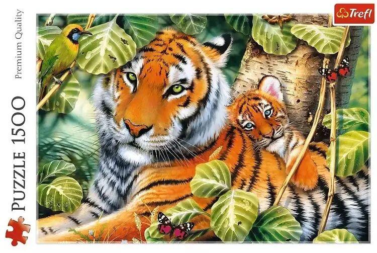 Puzzle 1500 Dwa tygrysy TREFL