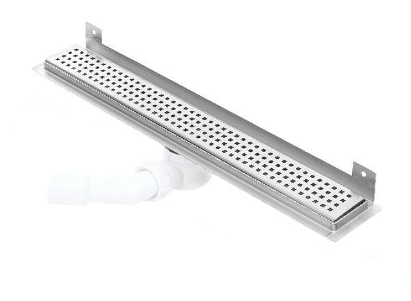 Kesmet Wall Silver Square odpływ ścienny 1100KWF_p 1100mm (syfon plastikowy)