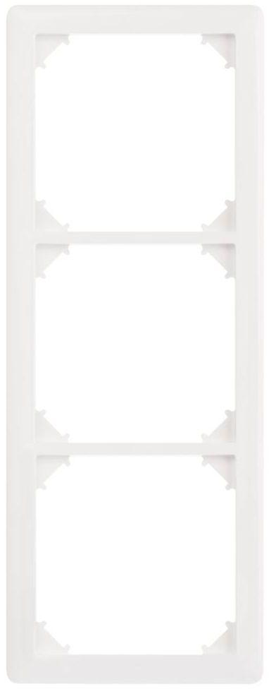 Ramka potrójna SLIM Biały LEXMAN