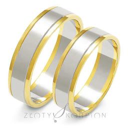 Obrączki ślubne Złoty Skorpion  wzór Au-A-209