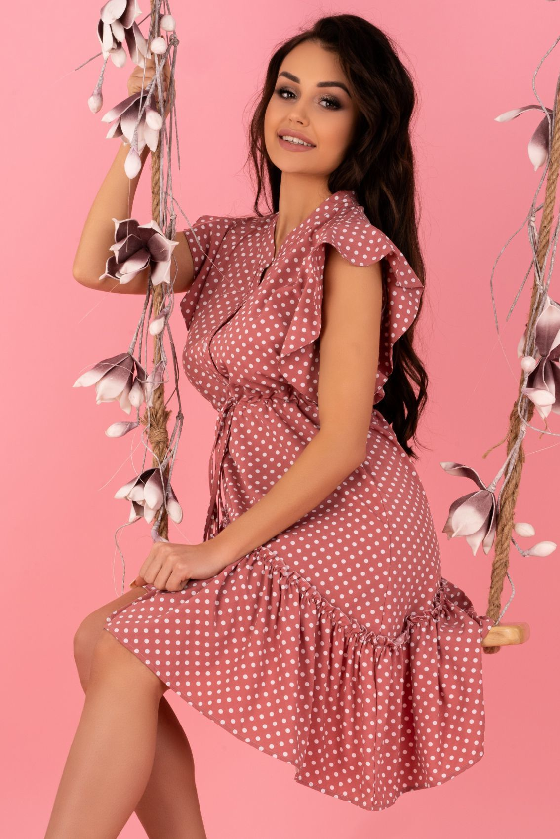Liana Pink D155 sukienka