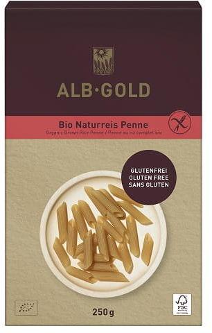 Makaron Ryżowy Razowy Penne bezglutenowy BIO 250g - Albgold