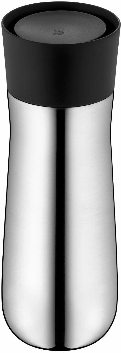WMF Impulse kubek termiczny 350 ml, kubek termiczny z automatycznym zamknięciem, otwór do picia 360 , utrzymuje napoje gorące przez 8 godz./12 h, srebrny