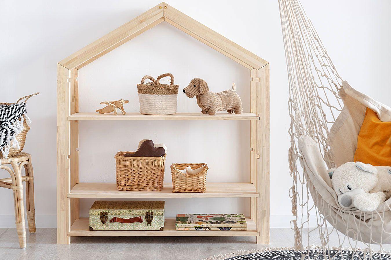 Drewniany regał dziecięcy domek Rosie 3X