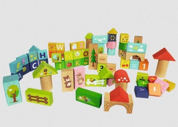 Zabawka drewniana - Klocki Misia ZdzisiaTREFL - Trefl