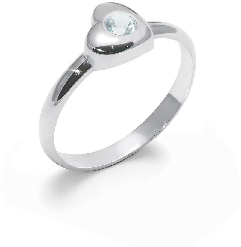 Kuźnia Srebra - Pierścionek srebrny, Niebieski Topaz, 2g, model