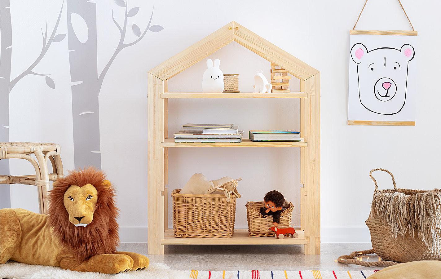 Regał dziecięcy w formie domku Rosie 4X