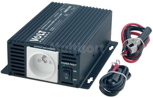 Przetwornica samochodowa SINUS600 dc/ac 300W 12VDC/230VAC