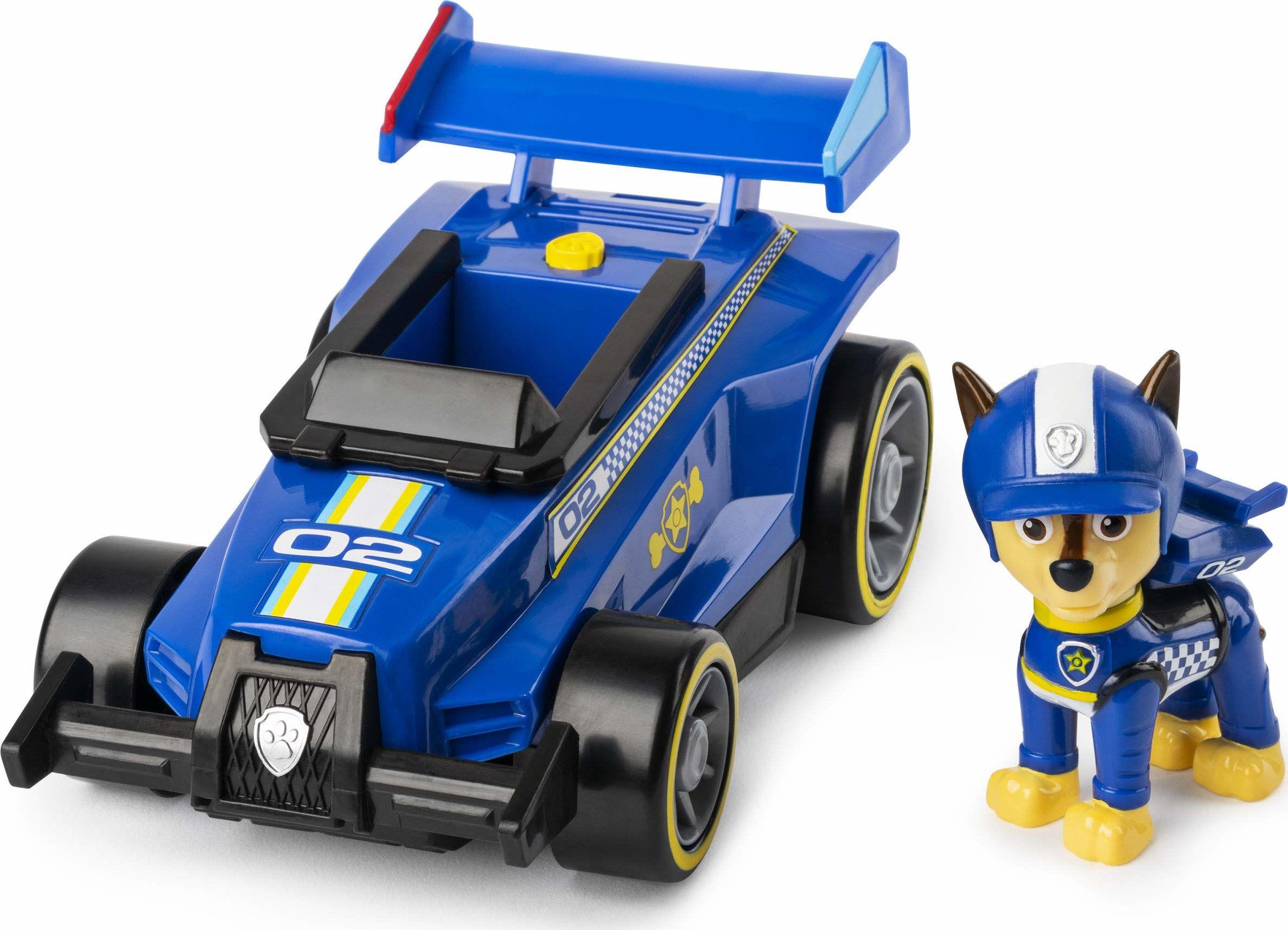 PAW Patrol Gotowy, Race, Rescue Chase''s Race & Go Deluxe pojazd z dźwiękami, dla dzieci w wieku od 3 lat