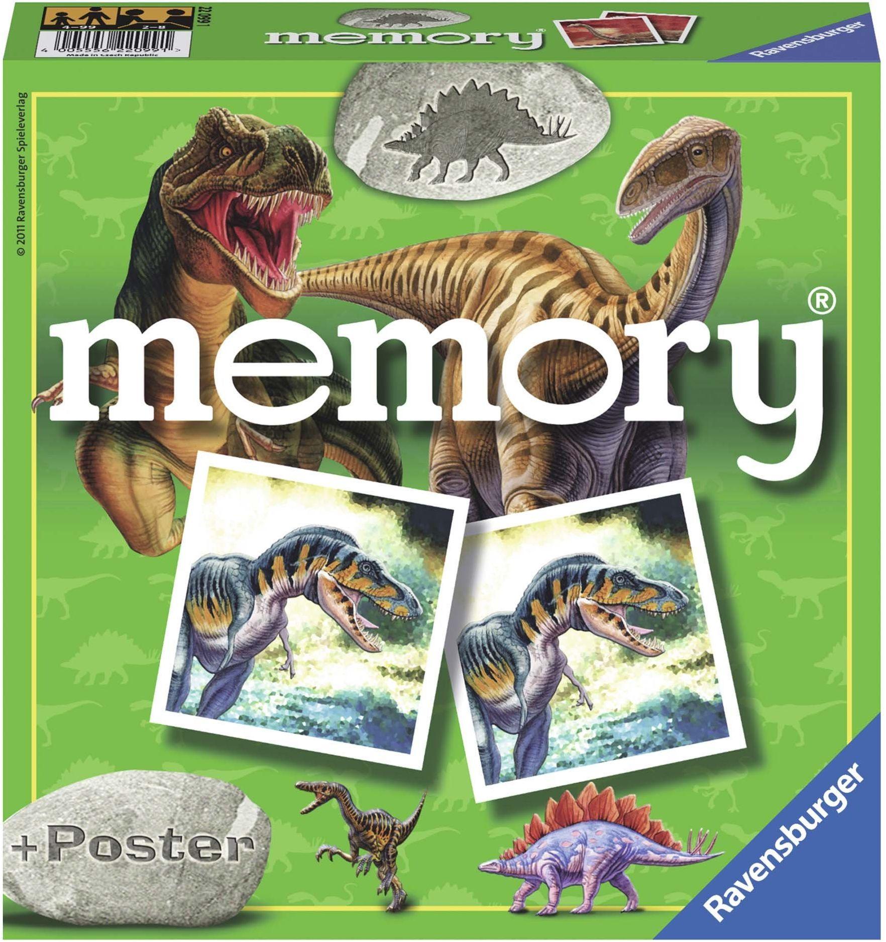 Ravensburger  22099  gra edukacyjna  Memory, dinozaur