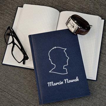 Mężczyzna - notatnik A5 z nadrukiem