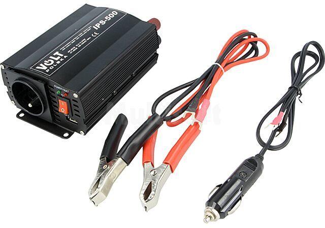 Przetwornica samochodowa IPS500 dc/ac 350W 12VDC/230VAC