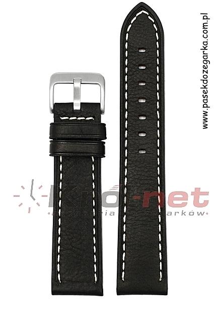 Pasek PA120/18 - czarny, przeszywany