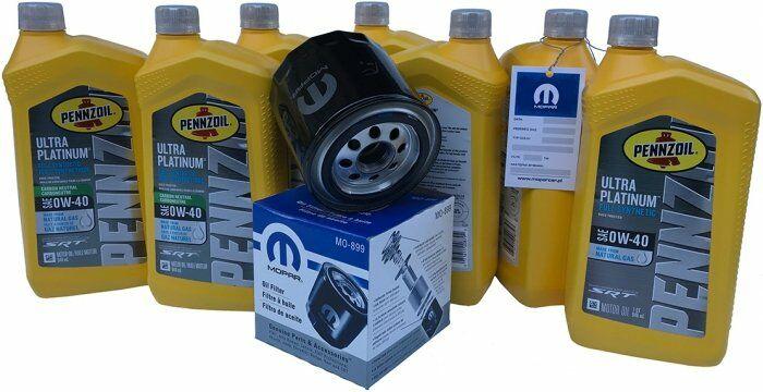 Filtr olej PENNZOIL PLATINUM 0W40 Dodge Challenger SRT-8 6,1 V8