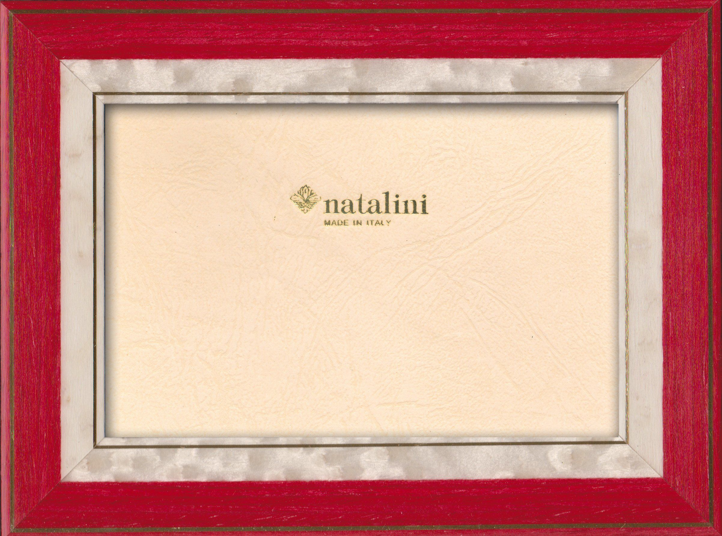 Natalini Marquetry ramka na zdjęcia wyprodukowana we Włoszech, tulipan, czerwona, 10 cm x 15 cm
