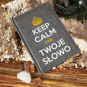 Keep Calm - notatnik A5 z nadrukiem