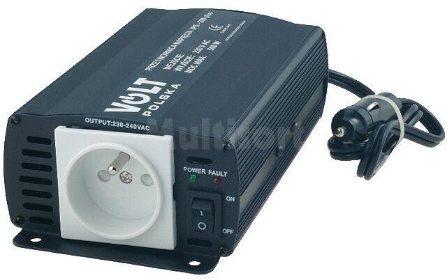 Przetwornica samochodowa IPS500 PLUS dc/ac 350W 24VDC/230VAC