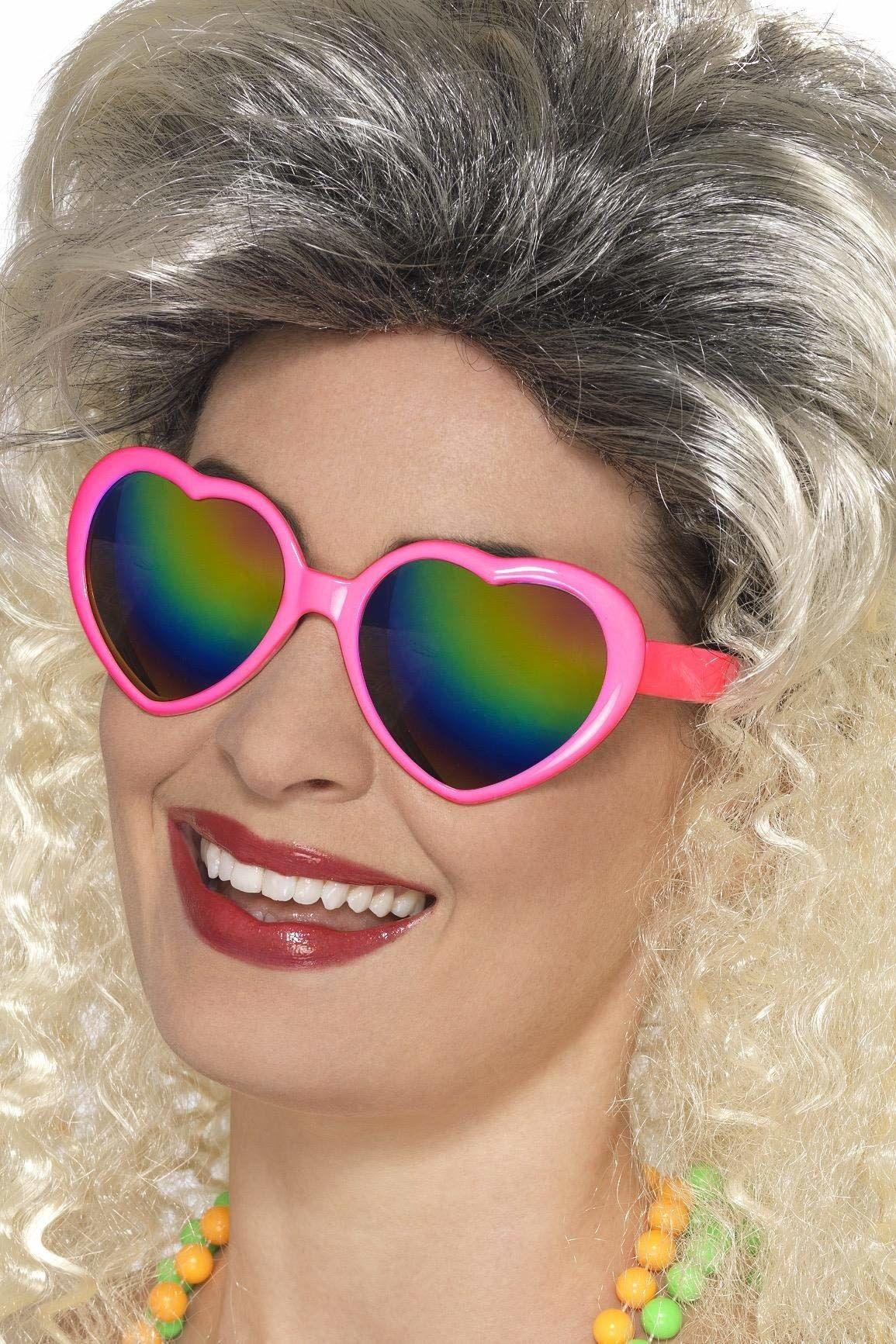 Smiffys 44606 - damskie okulary przeciwsłoneczne w kształcie serca, rozmiar uniwersalny