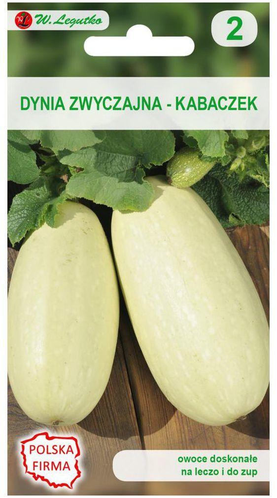 Dynia zwyczajna (Kabaczek) LONG WHITE BUSH 2 nasiona tradycyjne 5 g W. LEGUTKO