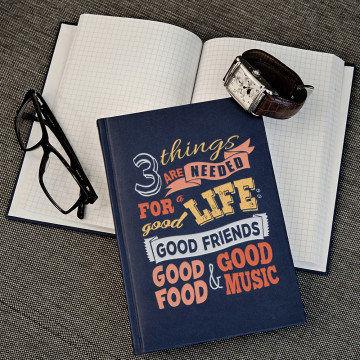 Good life - notatnik A5 z nadrukiem