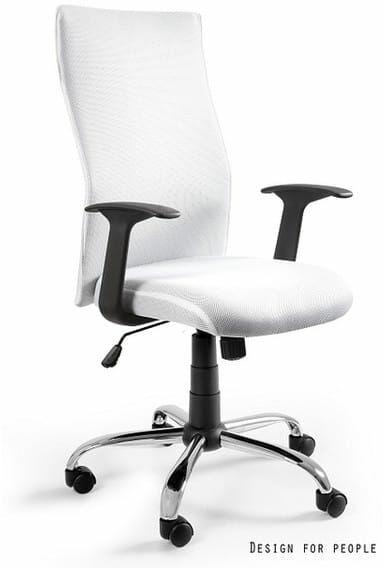 Fotel Biurowy Unique BLACK on BLACK PS biały