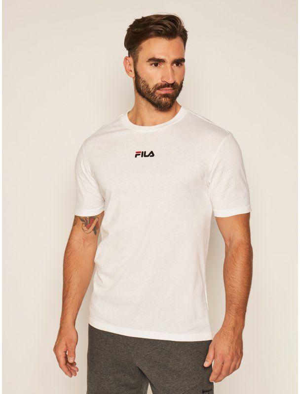 Fila T-Shirt Sayer 687990 Biały Regular Fit