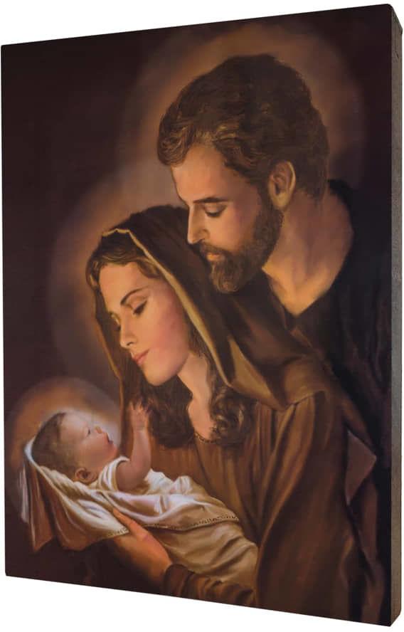 Święta Rodzina, obraz na desce