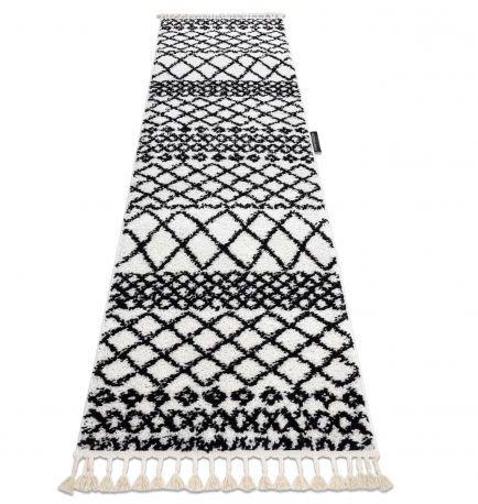 Dywan, Chodnik BERBER SAFI biały - do kuchni, przedpokoju, na korytarz 60x200 cm