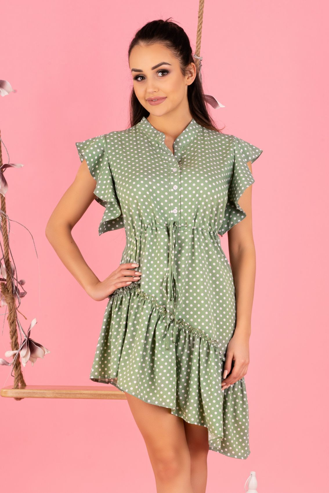 Liana Green D155 sukienka