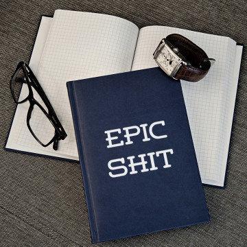 Epic Shit - notatnik A5 z nadrukiem