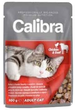 Calibra Adult kurczak i wołowina 100g Cat
