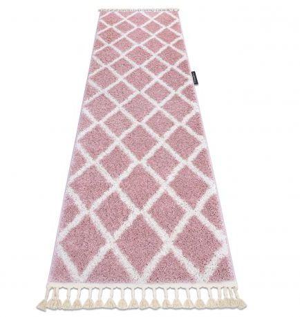 Dywan, Chodnik BERBER TROIK różowy - do kuchni, przedpokoju, na korytarz 60x200 cm
