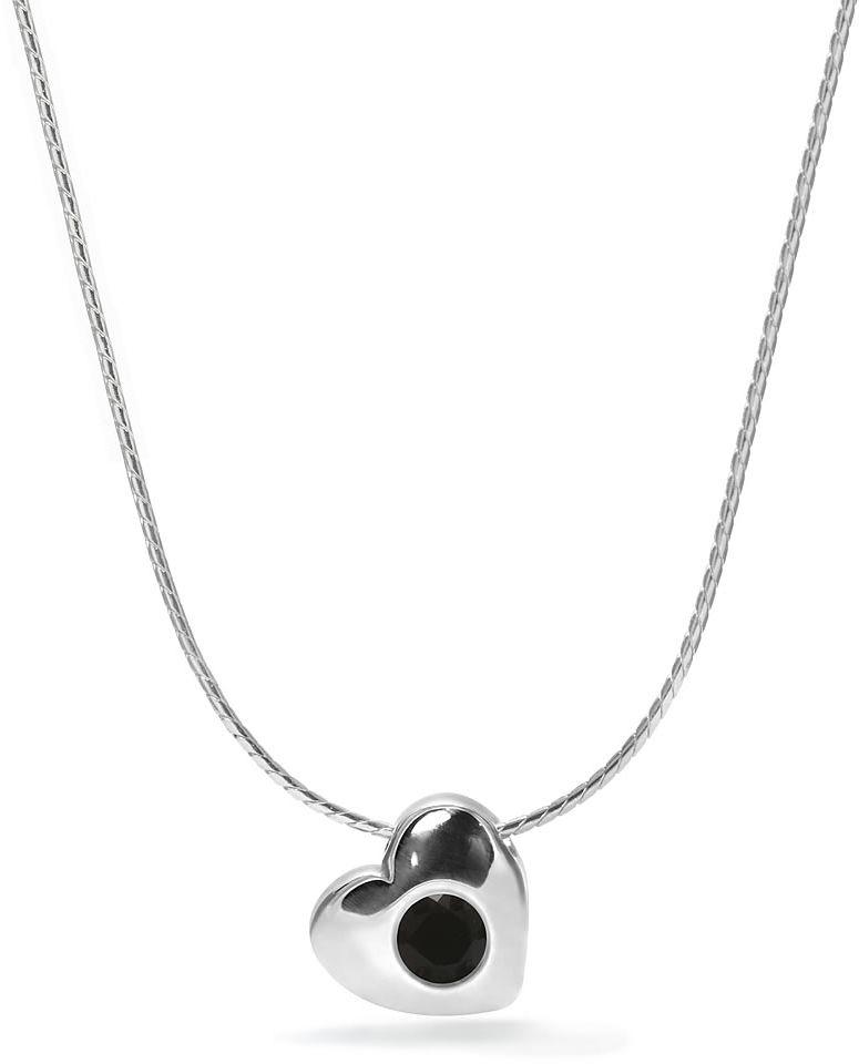Kuźnia Srebra - Naszyjnik srebrny, 40cm, Czarny Onyks, 2g, model