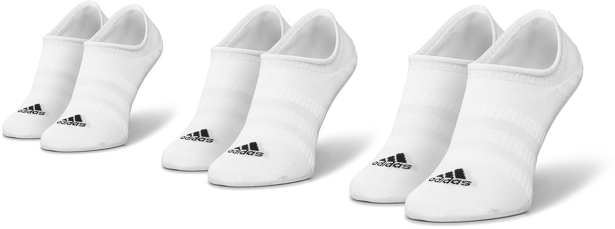 Zestaw 3 par stopek unisex adidas - Light Nosh 3PP DZ9414 White/White/White