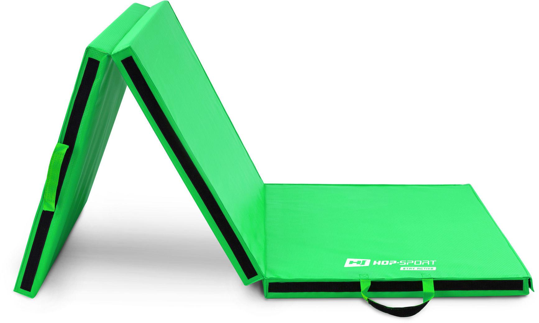 Materac gimnastyczny składany miękki z rzepami 5cm - zielony