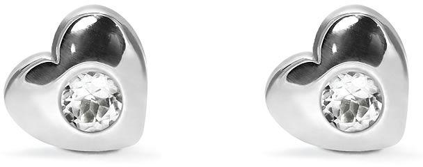 Kuźnia Srebra - Kolczyki srebrne sztyft, 8mm, Biały Topaz, 2g, model