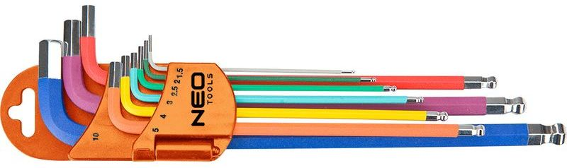 Klucze sześciokątne 1.5-10 mm 09-512 /zestaw 9 szt./