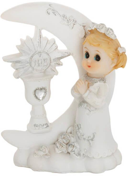 Figurka gipsowa komunijna dziewczynka, 9 cm, 1 szt.
