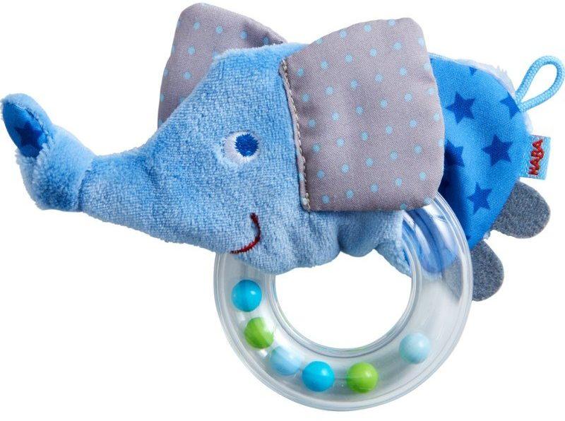 Gryzak i grzechotka dla dzieci Super słoń HB305553-Haba, zabawki dla niemowląt