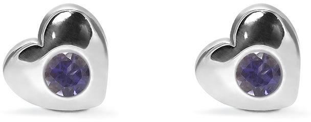Kuźnia Srebra - Kolczyki srebrne sztyft, 8mm, Iolit, 2g, model