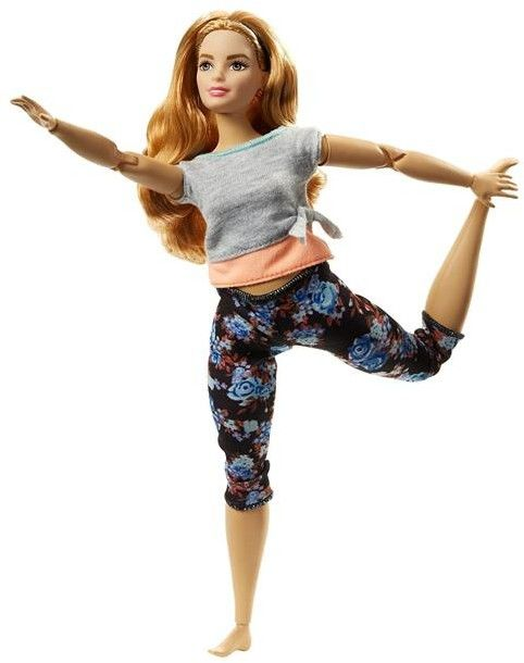 Barbie - Made to Move Kwiecista Barbie Strawberry Blond FTG84
