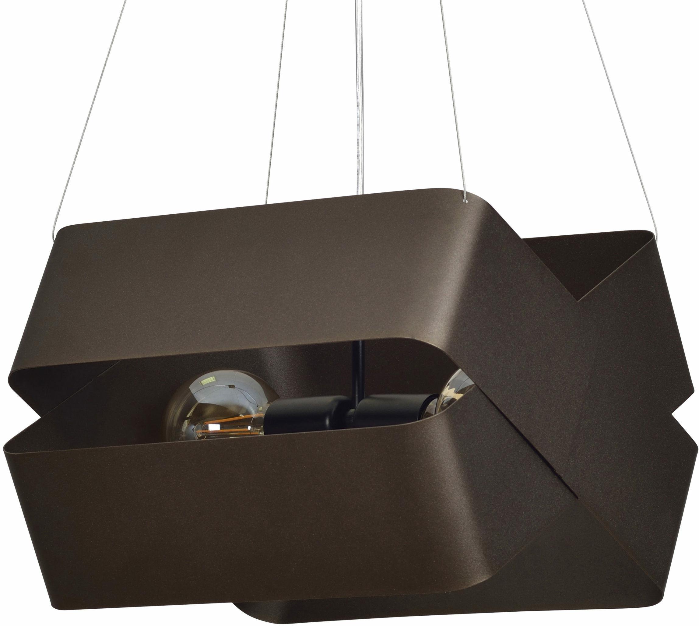 Emibig DELTA WENGE 445/4 lampa wisząca oryginalna brązowa regulowana metalowa 2x60W E27 36cm
