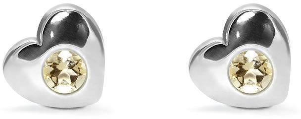 Kuźnia Srebra - Kolczyki srebrne sztyft, 8mm, Cytryn, 2g, model