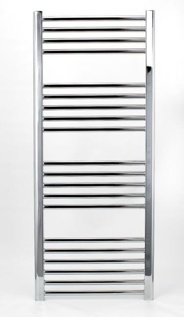 Grzejnik łazienkowy york - wykończenie proste, 400x1200, chromowany