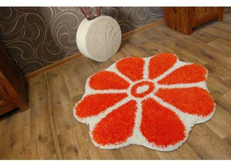 Dywan SHAGGY GUSTO Kwiatek C300 pomarańcz koło 100 cm