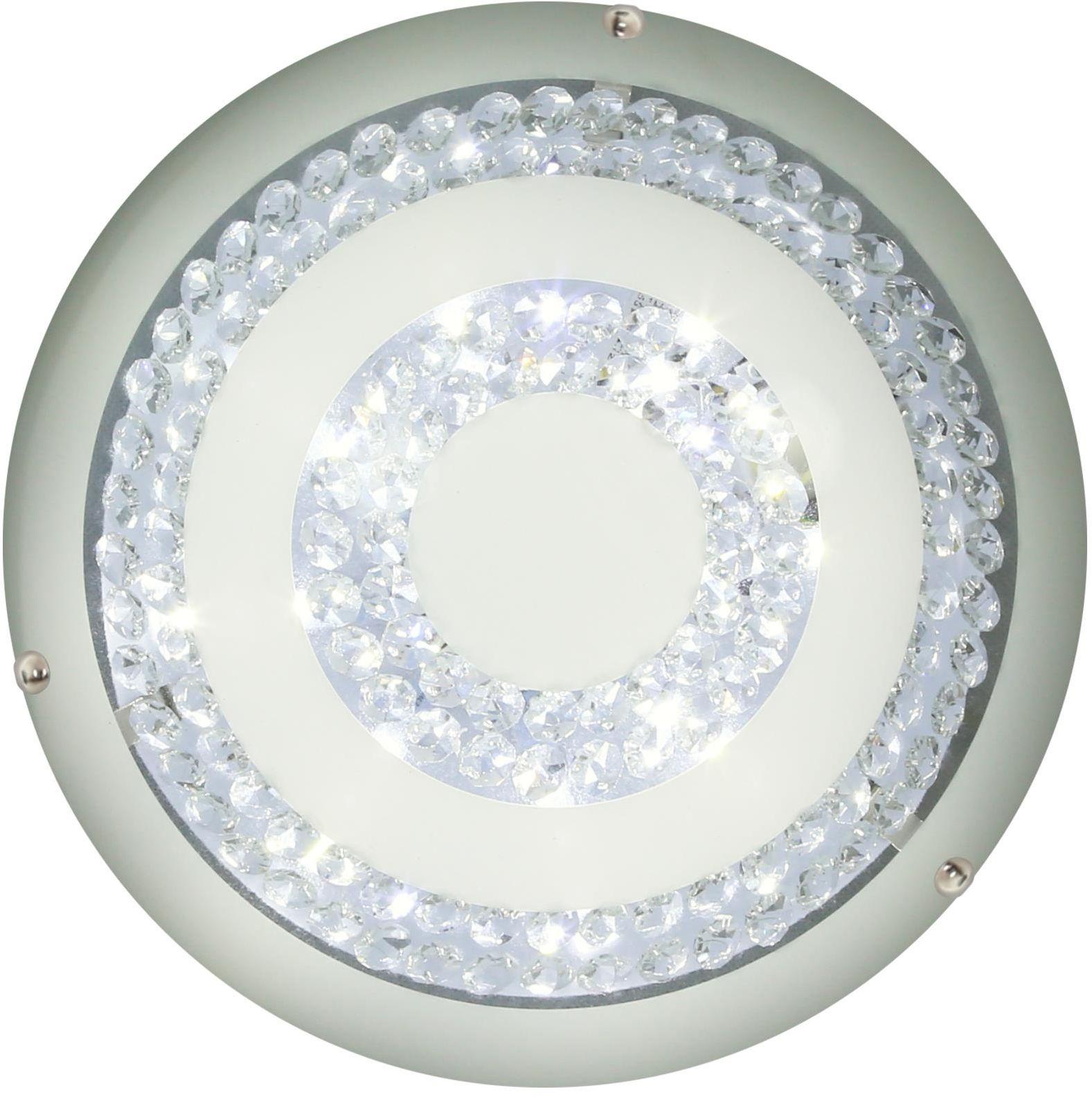 Candellux MONZA 14-75246 plafon lampa sufitowa klosz ze szkła giętego kryształki 1X16W LED 4000K 40 cm
