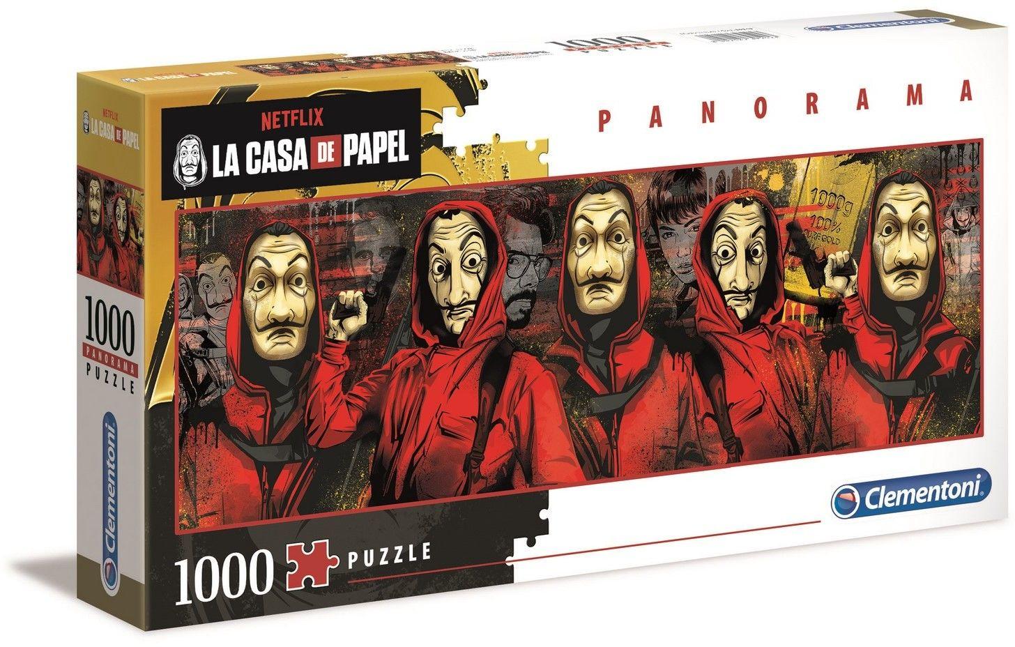 Puzzle Clementoni 1000 - Dom z papieru, La Casa de Papel (panorama)