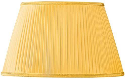Klosz lampy, plisa owalna, Ø 20 x 13/15 x 10/12 (ręcznie plisowana), kolor złoty