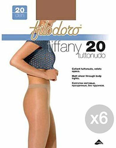 Filodoro zestaw 6 Tiffany 20-częściowy 2S Cognac rajstopy dla kobiet, wielokolorowe, 6 sztuk